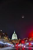 WASHINGTON DC Constitution Avenue and Pensylvannia Avenue US Capitol