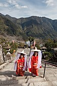 Kumano Nachi Taisha (熊野é'£æ ºå¤§ç¤¾) is one of the three Kumano shrines, situated a few kilometers inland from the coastal hot spring resort of Katsuura The shrine is part of a large complex of neighboring religious sites that exemplify the fusion of