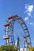 Viennese giant wheel Wiener Riesenrad in the Prater amusement park in Vienna, Eastern Austria, Austria, Europe
