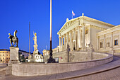 Building of the parliament in the historic old town of Vienna, Eastern Austria, Austria, Europe