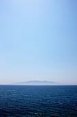 Corfu seen from the Albanian coast, Dhermi, Albanian Riviera, Albania