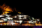 The UNESCO town of Berat seen at night, Berat, Berat, Albania