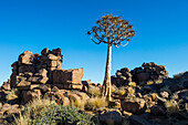 Unusual rock formations, Giants Playground, Keetmanshoop, Namibia, Africa