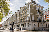 Traditional Georgian-style flats in South Kensington, London, England, United Kingdom, Europe