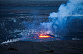 'Eruption at Halema'uma'u Crater, Kilauea Caldera, Hawaii Volcanoes National Park; Island of Hawaii, Hawaii, United States of America'