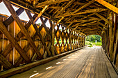 'Worrall covered bridge, Windham County, Bartonsville; Chester, Vermont, United States of America'