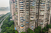 'Residential buildings over 30 floors for apartments; Chongqing, China'