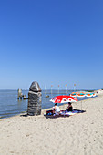 Beach of the Jade Bay in Dangast in the National Park Wadden Sea of Lower saxony, Varel, East Frisia, Friesland, Lower Saxony, Northern Germany, Germany, Europe