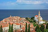 Piran with Adriatic Sea, Piran, Adriatic Sea, Slovenia