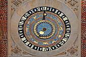 Astronomische Uhr, Clock Court, Hampton Court, Richmond upon Thames, Surrey, England