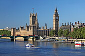 Houses of Parliament und Themse, Westminster, London, England