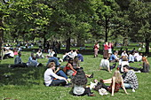 Mittagspause im St. James Park, Westminster, London, England