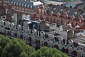 Blick von der Westminster Cathedral auf Dächerlandschaft der Morpeth Terrace, Westminster, London, England