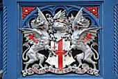 Wappen der City of London an der Tower Bridge, London, England