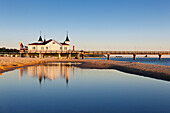 Pier, Ahlbeck, Usedom, Baltic Sea, Mecklenburg-West Pomerania, Germany