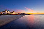 Spa hotel, Binz, Ruegen,  Baltic Sea, Mecklenburg-West Pomerania, Germany