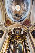'Interior design and artwork in St. George's Basilica, Prague Castle Complex; Prague, Czech Republic'