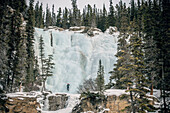 frozen waterfal, athabasca falls, Jasper National Park, Alberta, Kanada, north america