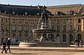 Place de la Bourse with Fountain of the Three Graces