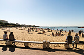 Beach promenade and people at Plage Thiers beach