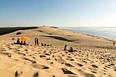 View from the Pilat Dune (La Grande Dune du Pilat), the highest dune in Europe