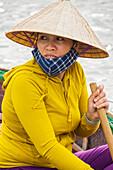 Portrait, vientamese woman, Hoian, Vietnam