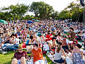 Concert public, botanical garden Kirstenbosch, Cape Town, South Africa
