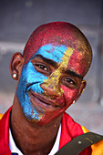 Portrait man, Malayan carneval, Cape Town, South Africa
