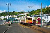 Alte Straßenbahn in Douglas, Isle of Man, Krone Abhängigkeit des Vereinigten Königreichs, Europa