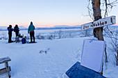 Das Gipfelbuch bei Stor Nabben, Abisko, Nationalpark Abisko, Norbottens Ian, Schweden, Europa