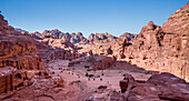 Cave of tombs in the ancient city of Petra, Jordan