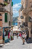Lipari, Messina district, Sicily, Italy, Europe, Alley on Lipari
