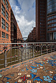 Bridge at Kehrwiederfleet, Speicherstadt, Hamburg, Germany.