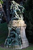 France, Paris, 5th district. Jardin des plantes. The statue of Bernardin de Saint-Pierre (the author of Paul and Virginie and the Garden intendant in 1792). Sculptor: Louis Holweck ( 1909 )