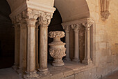 France, Southern France, Vileveyrac, Cistercian abbey of Holy Mary of Valmagne, 13th century, gothic style, entrance of the chapter house