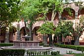 Mexico, State of Guanajuato, San Miguel de Allende, Patio of the Cultural Center El Nicromante
