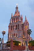 Mexico, State of Guanajuato, San Miguel de Allende, San Miguel Arcangel Cathedral, Neogothic style, late 19th century