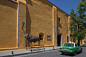 Mexico, State of Guanajuato, San Miguel de Allende, facade of the Cultural Center El Nicromante