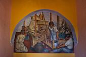 Mexico, State of Guanajuato, San Miguel de Allende, Frescoes by David Alfaro Siqueiros in the convent's old refectory, nowadays the Cultural Center El Nicromante