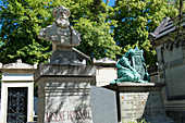 France, Paris 20th district. Pere Lachaise cemetery. Grave of the writer Arsene Houssaye (1896)