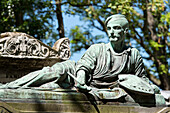 France, Paris 20th district. Pere Lachaise cemetery. Grave of the painter Gericault (1791-1824), by the sculptor Antoine Etex in 1840