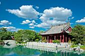 Canada, Province of Quebec. Montreal. District Hochelega-Maisonneuve (HoMa). The botanic garden. The Chinese garden