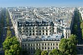 France. Paris 16th district. Place de l'Etoile. Buildings between avenue Victor Hugo and rue Lauriston
