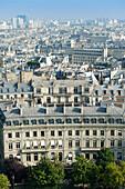 France. Paris 17th district. Place de l'Etoile. Buildings between avenue Mac Mahon and avenue de Wagram