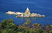 Montenegro, Small Chapel isolated on an island in the Adriatic sea