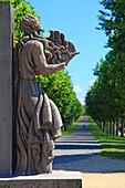 France, Brittany, Finistere, Brest. Cours Dajot. Jean Cras Monument