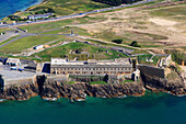 France, Western France, aerial view of Quiberon peninsula. Penthievre Fort.