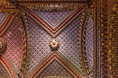 Mexico, Michoacan State, Morelia, Ceiling of the nave of the Sanctuary of Nuestra Senora de Guadalupe, 17th century, Unesco World Heritage