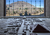 Mexico, State of Mexico, Teotihuacan archaeological pre-Columbian 200 BC, a UNESCO World Heitage Site, Museo del Sitio, huge model of Teotihuacan from 1500 years ago