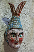 Mexico, Zacatecas state, Zacatecas, collection of masks from Rafael Coronel Museum